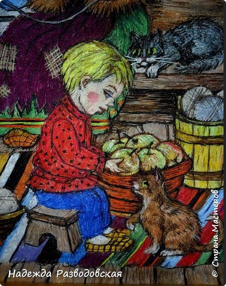 Моя работа связана с детьми, поэтому неслучайно в моем творчестве много сказочных сюжетов и персонажей... Куклы, гномики из папье-маше... И для моей вышивки гладью таким сказочным персонажам тоже нашлось место.  фото 6