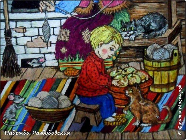 Моя работа связана с детьми, поэтому неслучайно в моем творчестве много сказочных сюжетов и персонажей... Куклы, гномики из папье-маше... И для моей вышивки гладью таким сказочным персонажам тоже нашлось место.  фото 5