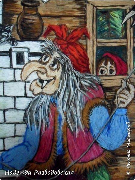 Моя работа связана с детьми, поэтому неслучайно в моем творчестве много сказочных сюжетов и персонажей... Куклы, гномики из папье-маше... И для моей вышивки гладью таким сказочным персонажам тоже нашлось место.  фото 4
