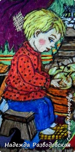 Моя работа связана с детьми, поэтому неслучайно в моем творчестве много сказочных сюжетов и персонажей... Куклы, гномики из папье-маше... И для моей вышивки гладью таким сказочным персонажам тоже нашлось место.  фото 7