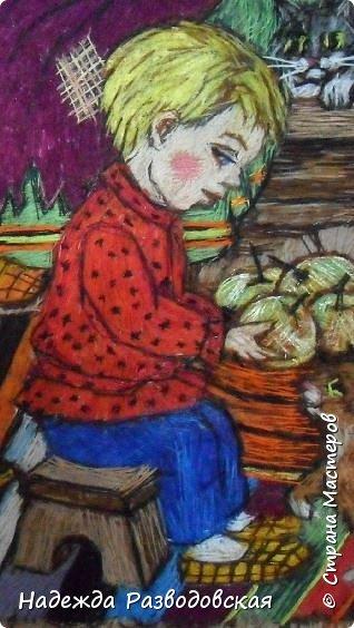 Моя работа связана с детьми, поэтому неслучайно в моем творчестве много сказочных сюжетов и персонажей... Куклы, гномики из папье-маше... И для моей вышивки гладью таким сказочным персонажам тоже нашлось место.  фото 8