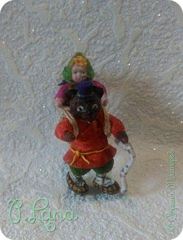 Добрый день!Сегодня у меня родилась новая игрушка из ваты.Маша и медведь. Высота игрушки 9см. Большое спасибо Эл и Оли Симаковой за вдохновение,без них её бы не было. http://stranamasterov.ru/node/1064501    МК по Маше и медведю Эл. http://stranamasterov.ru/node/1068589   тут Оли мишка. фото 6