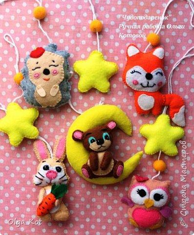 Милые зверюшки для детского мобиля фото 1