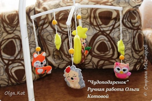 Милые зверюшки для детского мобиля фото 3