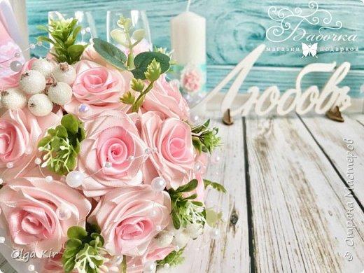 Приветствую вас дорогие мастера и рукодельницы!  Сегодня у меня небольшой  свадебный комплект, и очень захотелось показать саму невесту. Красивая, креативная, я балдею от  Ее образа и энергетики)))   фото 4
