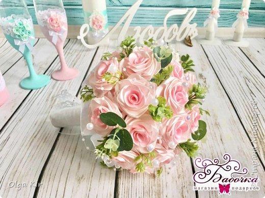 Приветствую вас дорогие мастера и рукодельницы!  Сегодня у меня небольшой  свадебный комплект, и очень захотелось показать саму невесту. Красивая, креативная, я балдею от  Ее образа и энергетики)))   фото 3