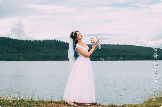 Приветствую вас дорогие мастера и рукодельницы!  Сегодня у меня небольшой  свадебный комплект, и очень захотелось показать саму невесту. Красивая, креативная, я балдею от  Ее образа и энергетики)))   фото 11