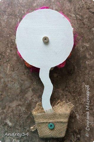 Вот такой получился красивый магнитик-топиарий  фото 2