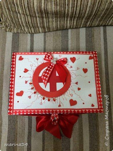 Здравствуйте жители страны,вот такую коробочку хорошего настроения сделали с дочей в подарок бабушке. фото 2
