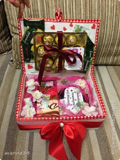 Здравствуйте жители страны,вот такую коробочку хорошего настроения сделали с дочей в подарок бабушке. фото 1