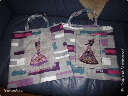 """Рождественская мастерская начала свою работу. Эти сумки (""""авоськи"""") для моих подруг. фото 1"""