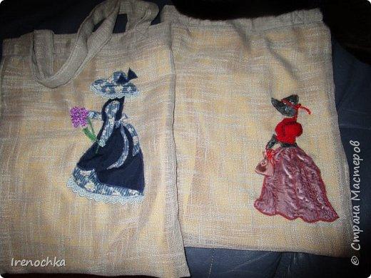 """Рождественская мастерская начала свою работу. Эти сумки (""""авоськи"""") для моих подруг. фото 2"""