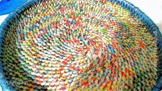 Конфетница из бумажной лозы выполнено в технике плетение из корня, размеры: 8х12х9 см, высота 12 см (без крышки). Цвет белый перламутр. фото 10