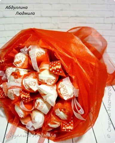 Было немного работ к дню учителя!!! Чайно-конфетный букет!!! фото 10
