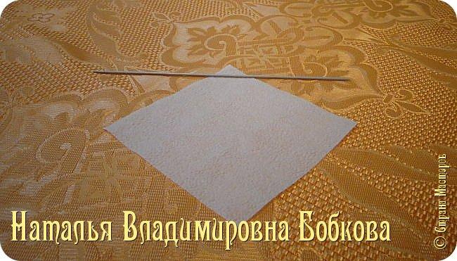 Мастер-класс по изготовлению ажурных цветов из бумажных салфеток.   фото 17