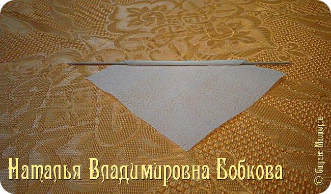 Мастер-класс по изготовлению ажурных цветов из бумажных салфеток.   фото 18