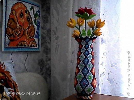 ваза с цветами сделана 08.10.2017