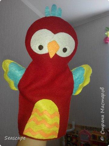 Фетровые игрушки-рукавички фото 1