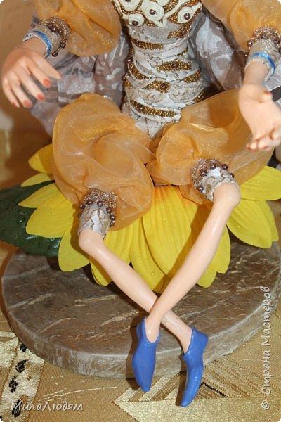 """Всем здравствуйте! 8 марта у нас в Доме культуры проходила выставка авторских кукол художника Колмогоровой Людмилы Юрьевны """"Жили-были куклы...""""  У меня был восторг и я все хотела поделиться своими впечатлениями с вами, но все не до этого было. Вот взялась, выбрала фото, обработала и выставляю репортаж. Фото будет много.  Автор этой выставки моя землячка, она жила и училась в моем поселке, в моей школе, чуть постарше меня. И как многие после школы уехала учиться, вышла замуж и в деревню не вернулась. фото 45"""