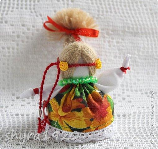 2).    Кукла на Долю, на Счастье. Сделана по всем правилам русских народных кукол. Сшила 28 штук,  показываю по 3 фото каждой. фото 2
