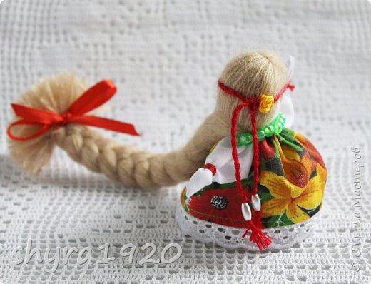 2).    Кукла на Долю, на Счастье. Сделана по всем правилам русских народных кукол. Сшила 28 штук,  показываю по 3 фото каждой. фото 3