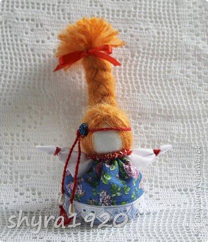 2).    Кукла на Долю, на Счастье. Сделана по всем правилам русских народных кукол. Сшила 28 штук,  показываю по 3 фото каждой. фото 26
