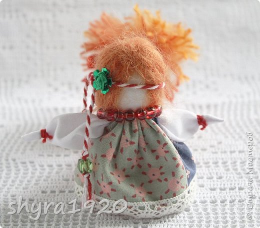 2).    Кукла на Долю, на Счастье. Сделана по всем правилам русских народных кукол. Сшила 28 штук,  показываю по 3 фото каждой. фото 37