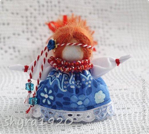 2).    Кукла на Долю, на Счастье. Сделана по всем правилам русских народных кукол. Сшила 28 штук,  показываю по 3 фото каждой. фото 9