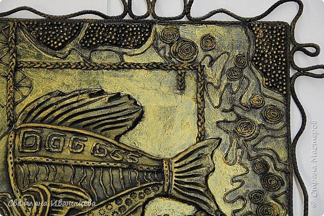 """Панно """"Мечты сбываются"""" выполнено в  смешанной технике пейп  арт и лепка из соленого теста. Размер панно 60 на 80 см. фото 14"""