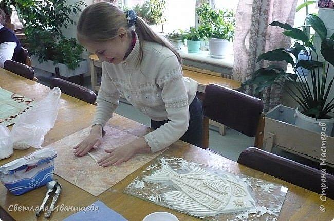 """Панно """"Мечты сбываются"""" выполнено в  смешанной технике пейп  арт и лепка из соленого теста. Размер панно 60 на 80 см. фото 5"""