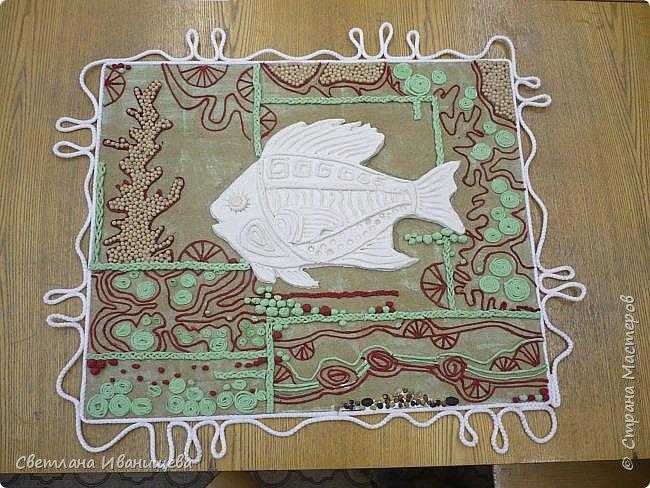 """Панно """"Мечты сбываются"""" выполнено в  смешанной технике пейп  арт и лепка из соленого теста. Размер панно 60 на 80 см. фото 8"""