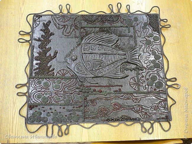 """Панно """"Мечты сбываются"""" выполнено в  смешанной технике пейп  арт и лепка из соленого теста. Размер панно 60 на 80 см. фото 9"""