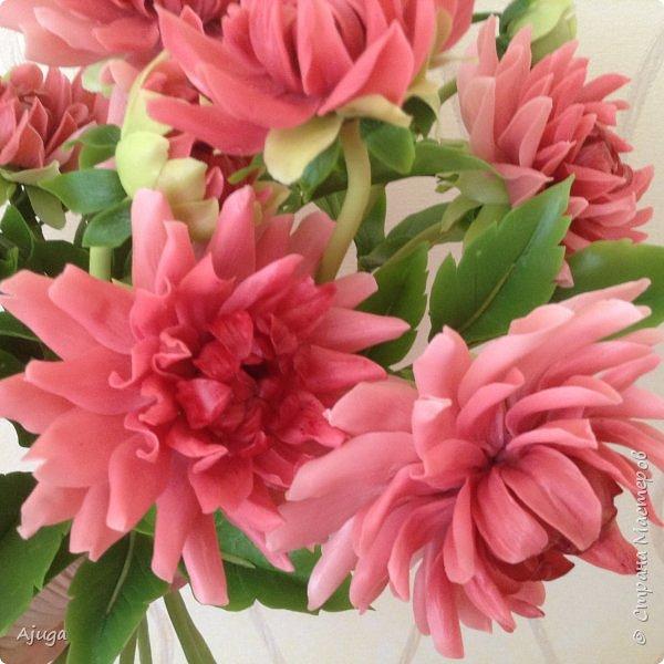 Интерьерные цветы ручной работы . Георгины из холодного фарфора. фото 1
