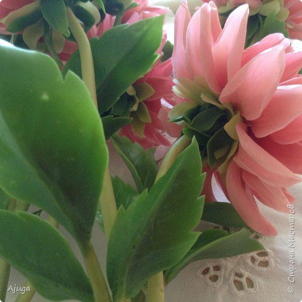 Интерьерные цветы ручной работы . Георгины из холодного фарфора. фото 11