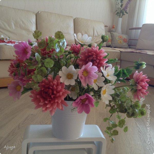 Интерьерные цветы ручной работы . Георгины из холодного фарфора. фото 16
