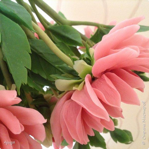 Интерьерные цветы ручной работы . Георгины из холодного фарфора. фото 4