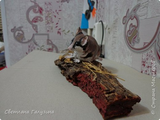 """Здравствуйте уважаемые Мастера и Мастерицы, давно не выставляла своих работ, вот такую мышку я слепила на конкурс """"Животные моего края, занесенные в красную книгу"""", а название её """"Соня садовая"""" фото 3"""