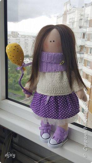 Моя первая куколка. Ни когда не умела шить, но подруга уговорила попробовать. Вот что получилось))) фото 2