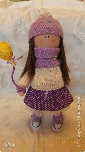 Моя первая куколка. Ни когда не умела шить, но подруга уговорила попробовать. Вот что получилось))) фото 1