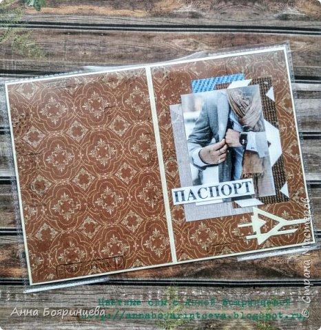 Всем привет!!!! На днях получилось сделать мужские обложки на паспорт. Всю композицию делала из обрезков. Вот всегда стараюсь применять обрезки в работах, и все равно их всегда много)))) на бумаге ставила штампы фото 1