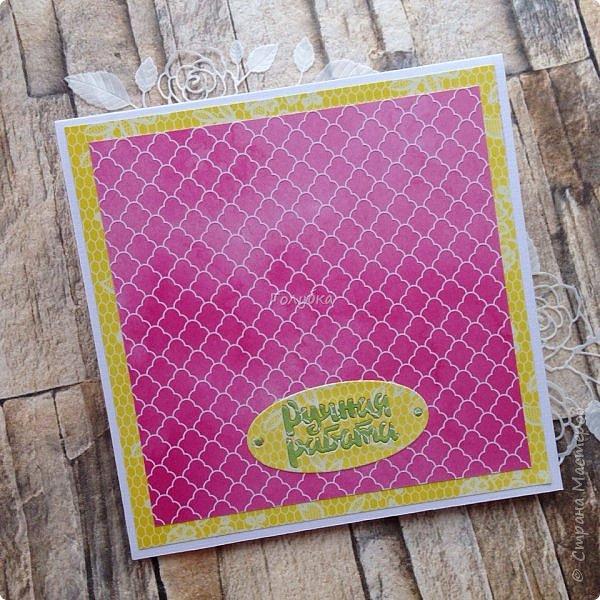 Последнее время открытки и конверты были нежных цветов,за редким исключением,  а тут прямо захотелось красок:)  Первой появилась вот такая сочная открытка из бумаги LemonCraft - BASIC Fresh Summer фото 4