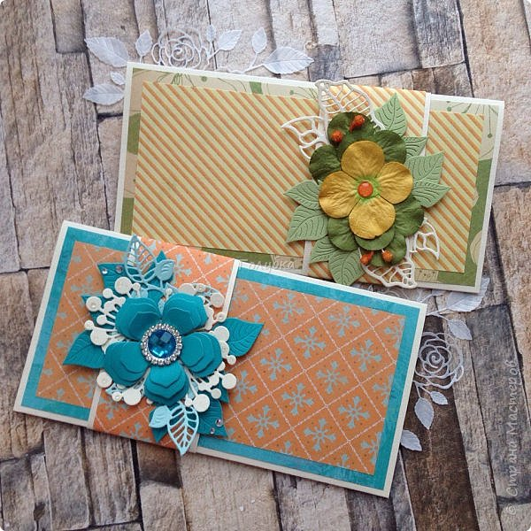 Последнее время открытки и конверты были нежных цветов,за редким исключением,  а тут прямо захотелось красок:)  Первой появилась вот такая сочная открытка из бумаги LemonCraft - BASIC Fresh Summer фото 9
