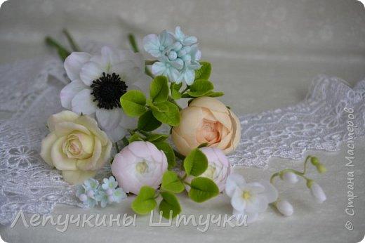 Свадебные цветочки, букетики, украшения в волосы или бутоньерка - всегда особенная нежность, ответственность и трепет.  фото 2