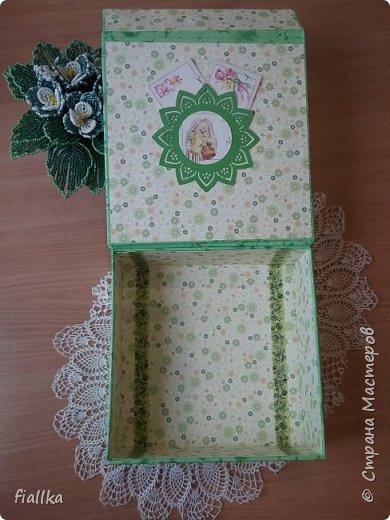 """Шкатулка для """"мамины сокровищ"""", сделала в подарок для племянницы  мужа.  фото 2"""