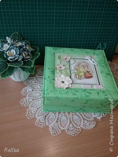 """Шкатулка для """"мамины сокровищ"""", сделала в подарок для племянницы  мужа.  фото 3"""