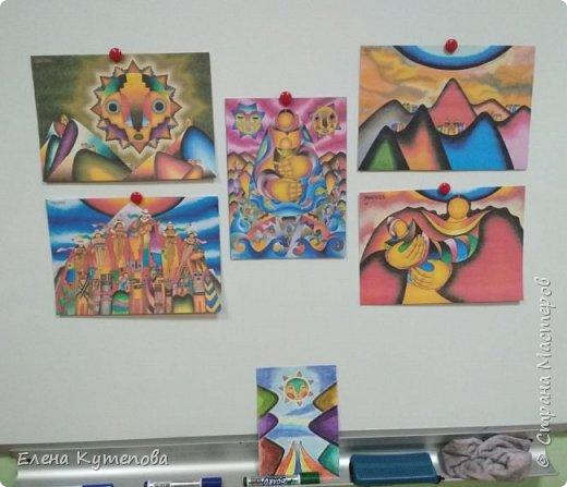 Продолжаю знакомить детей с этно-живописью. В этот раз была Южная Америка, творчество боливийского художника-самоучки Роберто Мамани Мамани из индейцев аймара. фото 2