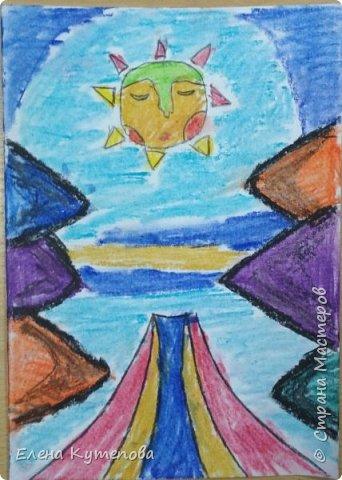 Продолжаю знакомить детей с этно-живописью. В этот раз была Южная Америка, творчество боливийского художника-самоучки Роберто Мамани Мамани из индейцев аймара. фото 3