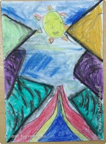 Продолжаю знакомить детей с этно-живописью. В этот раз была Южная Америка, творчество боливийского художника-самоучки Роберто Мамани Мамани из индейцев аймара. фото 6