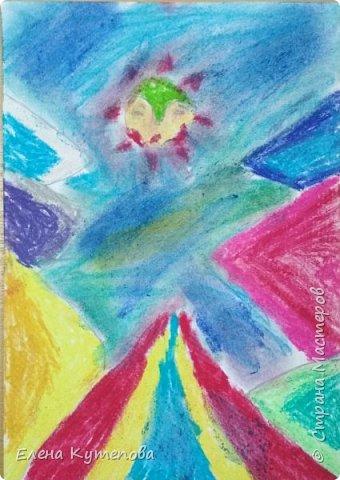 Продолжаю знакомить детей с этно-живописью. В этот раз была Южная Америка, творчество боливийского художника-самоучки Роберто Мамани Мамани из индейцев аймара. фото 5