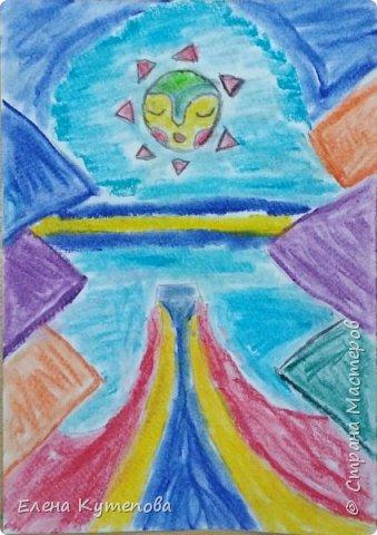 Продолжаю знакомить детей с этно-живописью. В этот раз была Южная Америка, творчество боливийского художника-самоучки Роберто Мамани Мамани из индейцев аймара. фото 4
